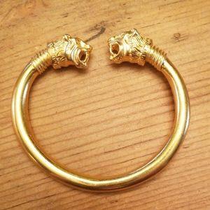 MMA Ancient Greek Style Dual Lion's Heads Bracelet